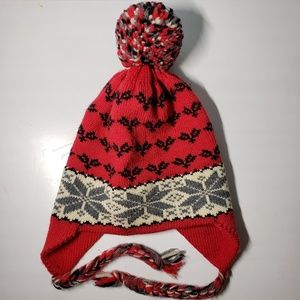 Accessories - Nordic Pom Pom Winter Ski/Snowboard Hat w/ Tassles